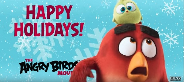 'The Angry Birds' Wish You Happy Holidays