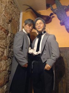Cheng and Eng in Wax Work Form