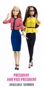 Barbie as president and vice president