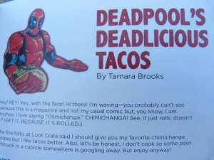 Deadpool's Taco Recipe