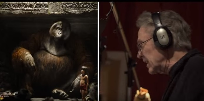 Split screen from The Jungle Book