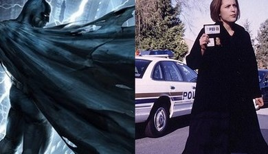 Cape vs Trench Coat aka Batman vs Dana Scully