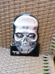 T2's metal face