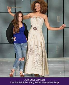 Third Her Universe Fashion Show Audience Winner Camille Falcoila Harry Potter Marauders Map
