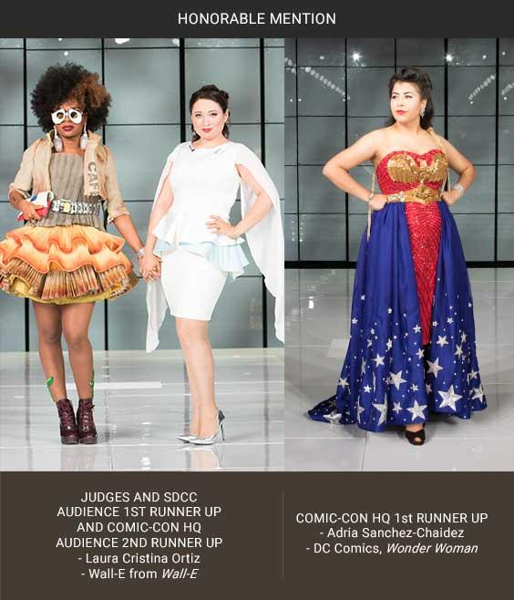 Third Her Universe Fashion Show Mention Laura Cristina Ortiz Wall-E and Adria Sanchez Chaidez Wonder Woman