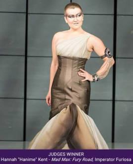 Third Her Universe Fashion Show Judges winner Hannah Kent Mad Max Fury Road Furiosa