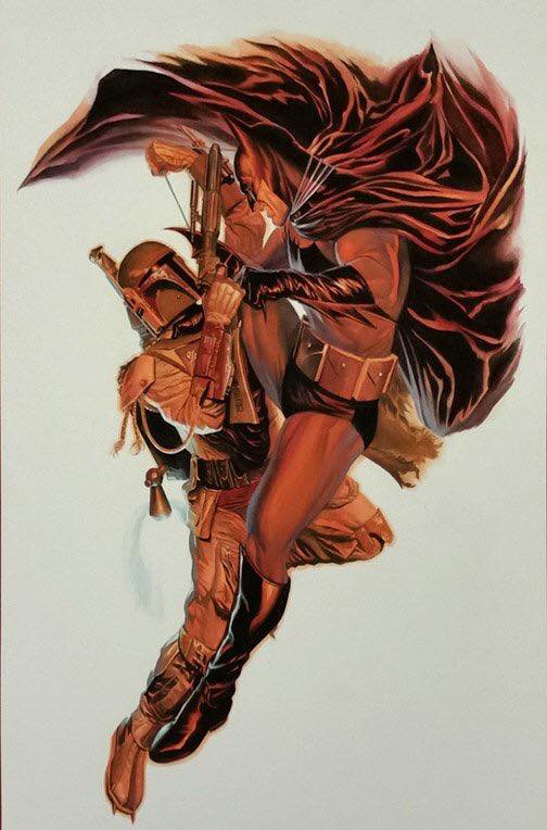 Batman vs Boba Fett by Alex Ross