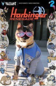 Harbinger #2 Valiant Cat Cosplay Cover