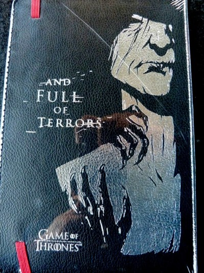 Game of Thrones Notebook back from Magical Loot Crate