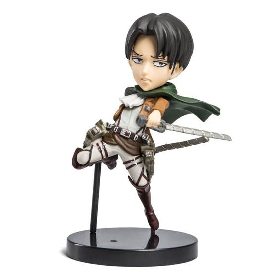 "Attack on Titan 2 Levi Figurine from April's ""Humanity"" Anime Loot Crate"