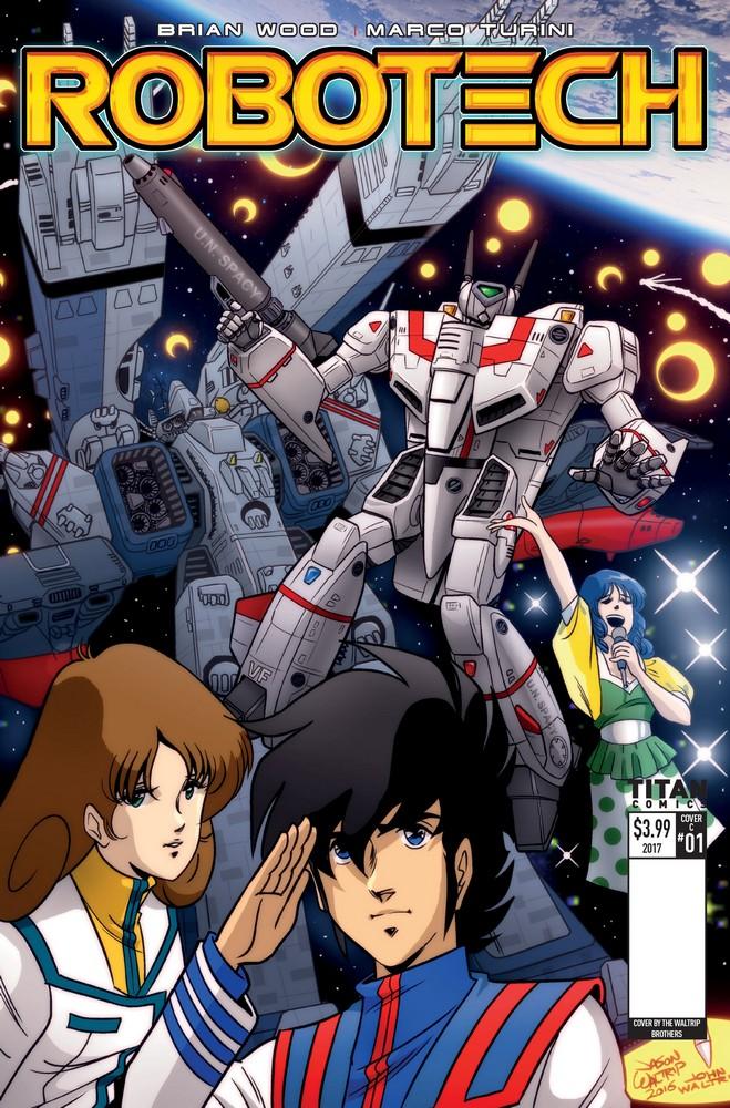 Robotech Issue 1 Cover E Waltrip Bros