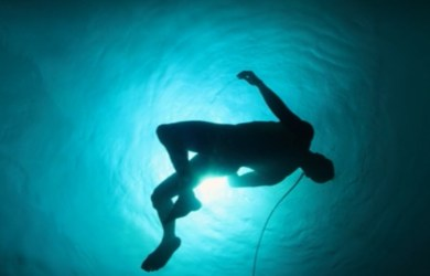 Altered Carbon man floating under water