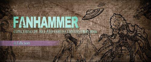 banner del concurso de relato corto fantastico Fanhammer