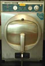 front view of the autoclave