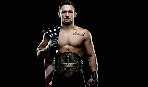 Michael Chandler with belt