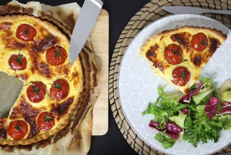 Recette de la quiche aux comté et tomates sur fannyalbx.com