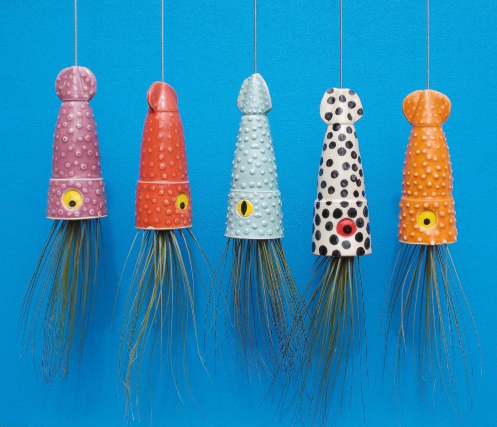 Idée cadeau-déco : Des créatures marines en guise de pots de fleurs