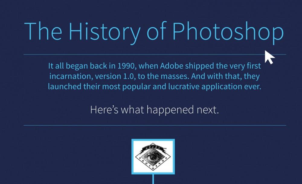 Infographie : L'histoire de Photoshop