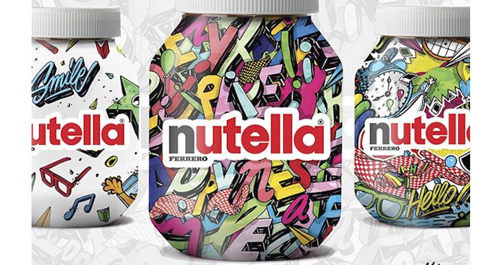 Nutella illustré par l'artiste Nairone