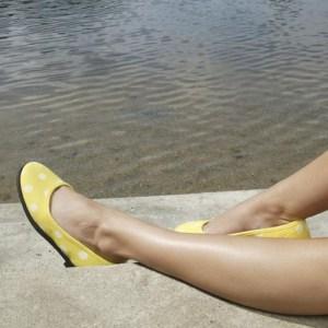 Ballerina med hvide prikker fra ShoeShoe – fåes i flere farver