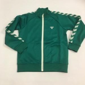 hummel trøje med zip grøn