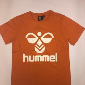 hummel t-shirt mørk orange