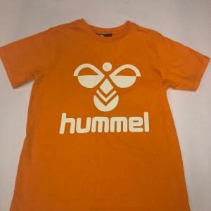hummel t-shirt neon orange