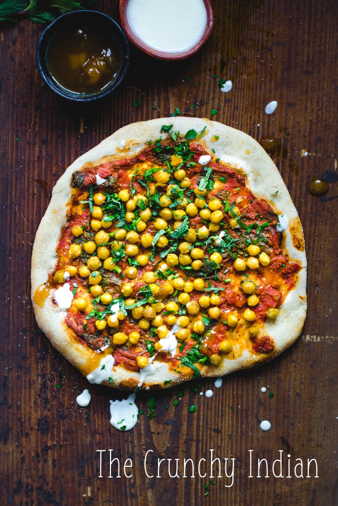 The Crunchy Indian - Vegan Pizza 3 Ways