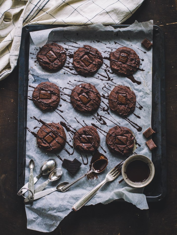 Double Choc Chewy Brownie Cookies