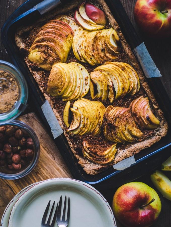 Apple Hazelnut Tart