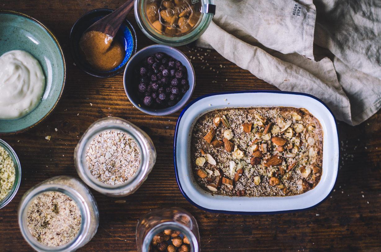 Buckwheat Breakfast Bake / Blueberries & Almond