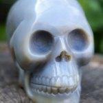 Grote agaat skull, kristallen schedel
