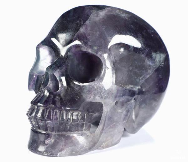paarse fluorietskull 1560 gram