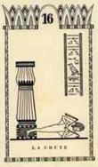 Tarot égyptien chute