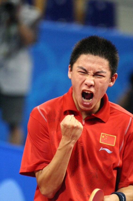 Chen Qi Beijing 2008 Table Tennis final