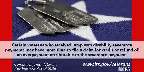 IRS DeptofDefense veterans tax