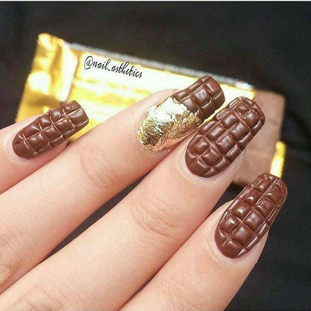 Nails Chocolate Love