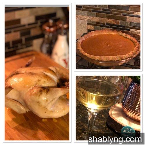 GOT Chardonnay sundaydinner roastchicken pumpkinpie acornsquash