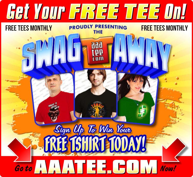 FREE TEES tshirt design win SWAG RT