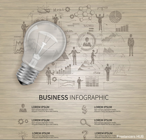 Business infographic in 2020
