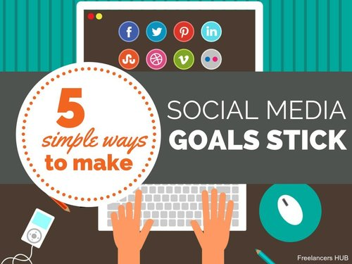 5 Simple Ways to Make Your Social Media Goals Stick  #socialmedia #digitalmarketing #contentmarketing #growthhacking #startup #SEO #ecommerce #marketing #influencermarketing #blogging #infographic #deeplearning #ai #machinelearning #bigdata #datascience