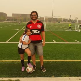 Angelina's favourite soccer coach at Calgary Rangers!