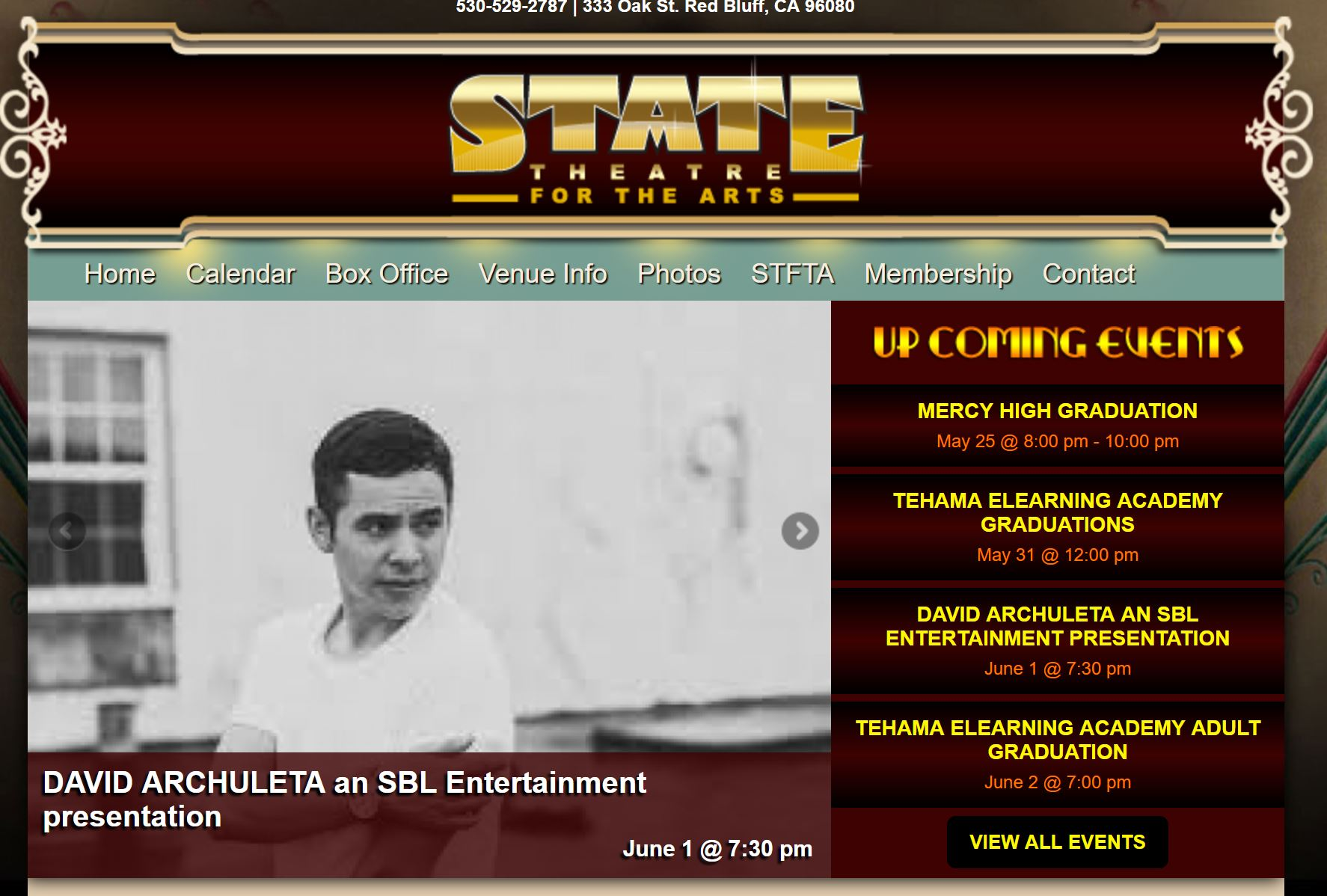 state theatre announcement david archuleta fans of david
