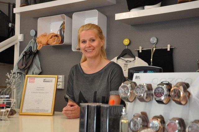 Kathrine Bøen er Larviks servicehelt Foto: op.no