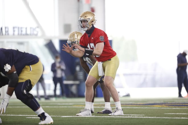Notre Dame QB Jack Coan wasn't used much as a runner in his time at Wisconsin.
