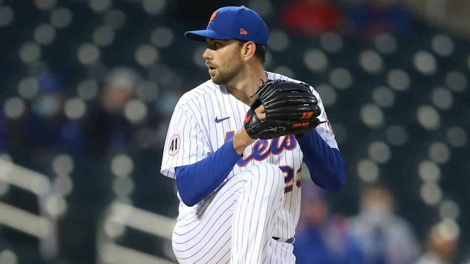 Apr 14, 2021; New York City, New York, USA; New York Mets starting pitcher David Peterson (23) pitches against the Philadelphia Phillies during the first inning at Citi Field.