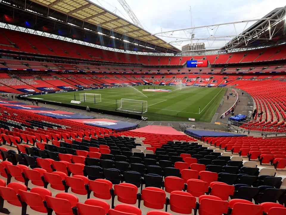 A general view of Wembley Stadium (PA)