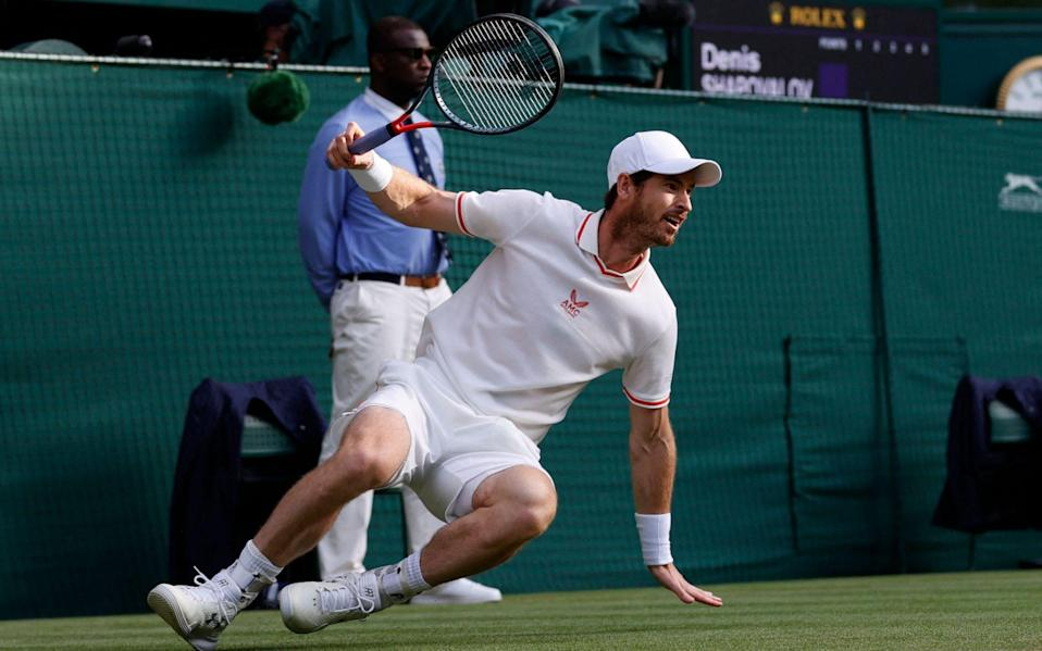 Murray loses his footing in the very first game - AFP