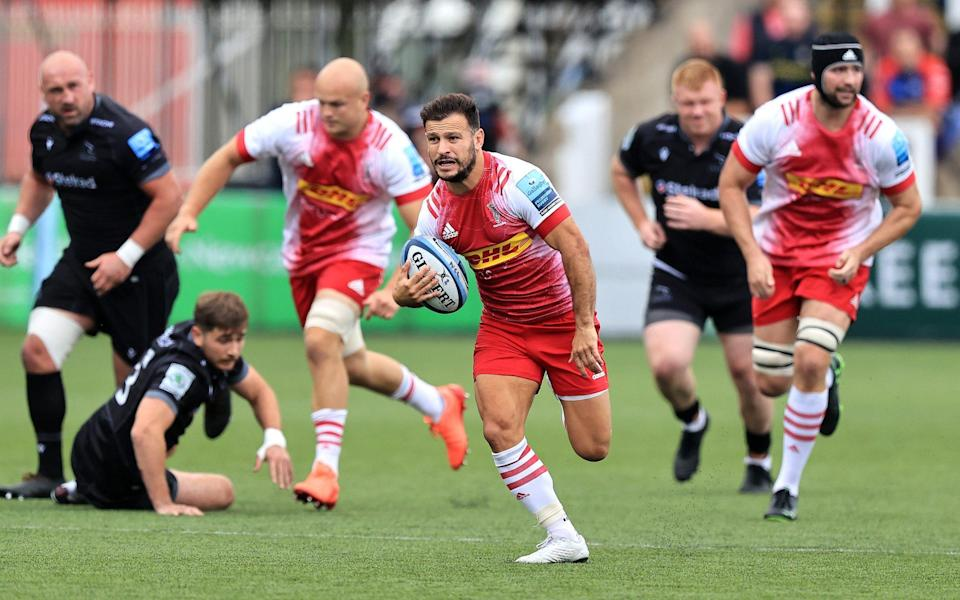 Danny Care of Harlequins breaks with the ball during the Gallagher Premiership Rugby match between Newcastle Falcons and Harlequins at Kingston Park on September 19, 2021 in Newcastle upon Tyne, England. - GETTY IMAGES