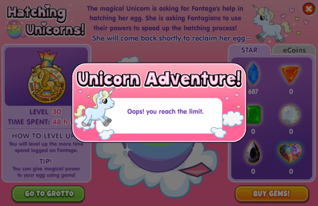 Unicorn Adventure Fantage Noble